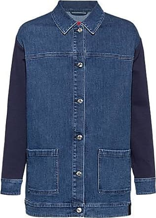 HUGO BOSS Oversized-fit denim jacket with cotton-jersey inserts