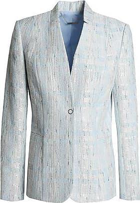 Elie Tahari Elie Tahari Woman Monet Bouclé-tweed Blazer Sky Blue Size 10