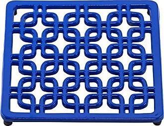 Old Dutch International 172DZ Deco Trivet,7.5, Dazzling Blue, 7.5x7.5x0.75