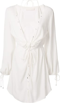 Dion Lee twist placket tunic dress - White