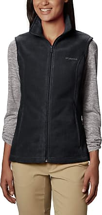 Columbia Womens Benton Springs Vest Fleece, Black, Large