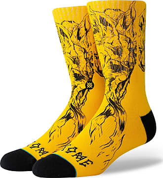 Stance MEIA MASCULINA WELCOME WOLVES - AMARELO