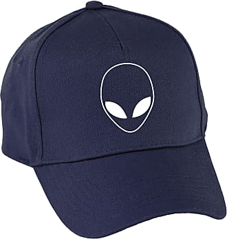 HippoWarehouse Alien Head (Pocket) Baseball Cap hat Premium Printed 5 Panel OneSize Adults Navy
