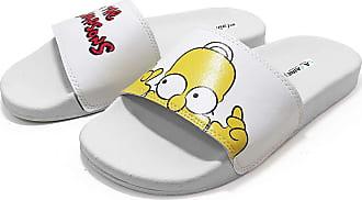 La Faire Chinelo Slide Simpsons La Faire (33/34, Sola Branca)