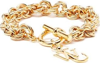 J.W.Anderson Logo-charm Chain-link Bracelet - Womens - Gold