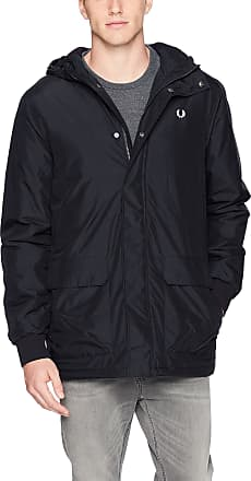 Fred Perry Mens Stockport Jacket Parka, Navy, Large