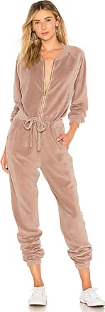 Young Fabulous & Broke Track Jumpsuit in Taupe