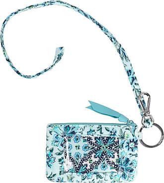 Vera Bradley girls Iconic Zip Id Lanyard Blue Size: One size