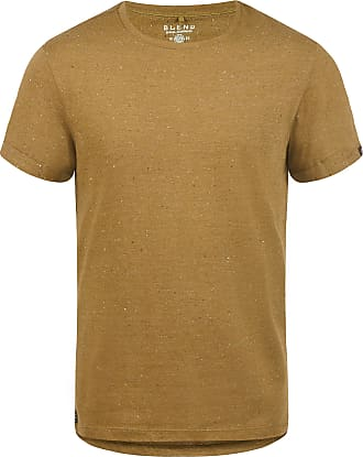 Blend Napito Mens T-Shirt Short Sleeve Shirt Tee with Crew Neck, Size:XL, Colour:Dijon Brown (75122)