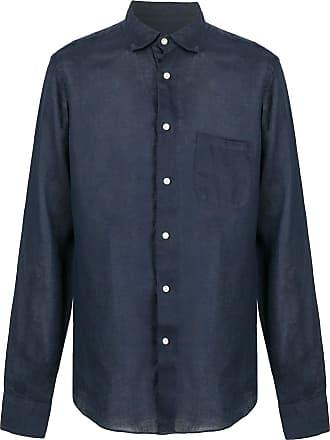 Peninsula Camisa com abotoamento simples de linho - Azul