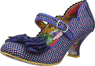 Irregular Choice Womens Summer Breeze Closed Toe Heels, Blue (Blue Check Q), 5 (38 EU)