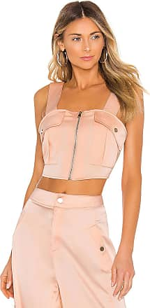 Kendall + Kylie Satin Cargo Tank in Pink