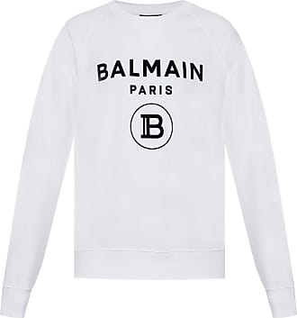 Balmain Sweatshirt With Logo Mens White