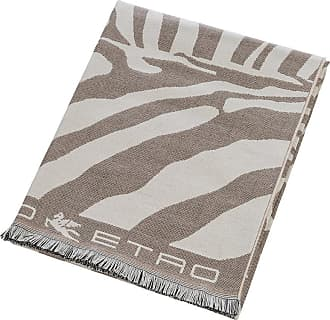Etro Parrish Zebra Fringed Throw - 140x180cm - Beige