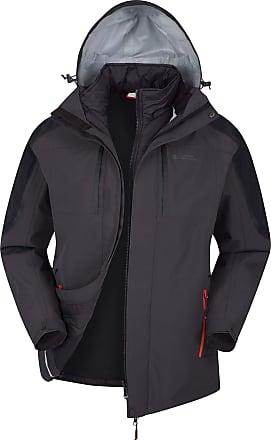 Mountain Warehouse Zenith II Mens 3 in 1 Jacket - Waterproof Rain Jacket, Warm, Breathable Winter Mens Coat, Taped Seams, Hooded, Underarm Zips - for Walking & Hiking Gr