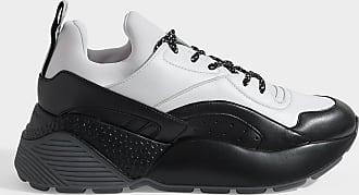 Stella McCartney Sneakers Eclype mit Schnürsenkeln aus schwarz-weißem Eco-Leder