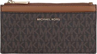 Michael Kors Large Slim Card Case Brown Acorn