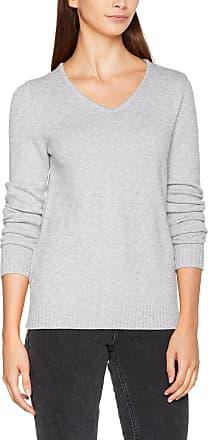 Vila Womens Viril L/s V-Neck Knit Top-noos Jumper, Grey (Light Grey Melange), 42 (Size: X-Large)