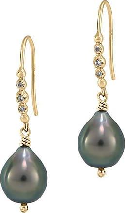 Dower & Hall Tahitian Pearl & Diamond Earrings