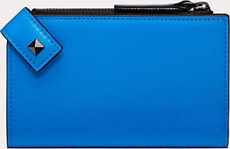 Valentino Garavani Valentino Garavani Uomo Rockstud Cardholder Man Neon Blue 100% Pelle Di Vitello - Bos Taurus OneSize