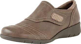 Lotus Ludlow Womens Casual Velcro Shoe 6/39 Stone Beige