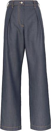 Wright Le Chapelain Calça jeans pantalona de alfaiataria - Azul