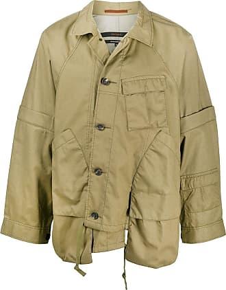 Ziggy Chen document patch asymmetric jacket - Green