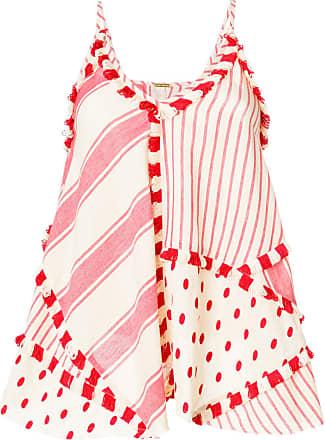 Dodo Bar Or Blusa em patchwork - Vermelho