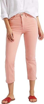 White Label M&S Marks and Spencer Pale Pink Sculpt & Lift Roma Rise Cropped Jeans Size 10