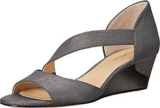 Imagine Vince Camuto Womens JEFRE Wedge Sandal, Anthracite, 7.5 Medium US