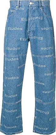 Études Studio all-over logo print jeans - Blue