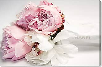 The Oliver Gal Artist Co. The Oliver Gal Artist Co. Oliver Gal Peonies and Magnolia Love Pink Floral and Botanical Wall Art Print Premium Canvas, 60 x 40