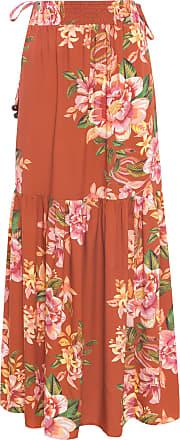 Dress To Saia Longa Estampa Spicy - Vermelho