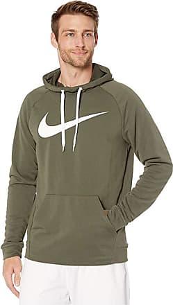 nike training swoosh hoodie in khaki