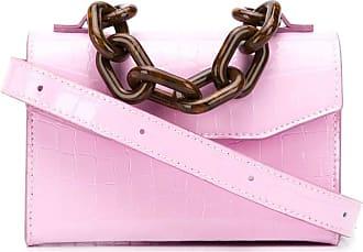 Ganni Belly croc belt bag - Rosa