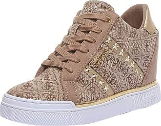 Guess Womens Fayne Sneakers -Light Brown Beige 8 UK