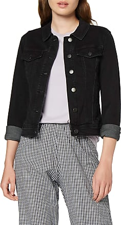 Jacqueline de Yong Womens Jdywinner Str Jacket Box DNM Noos, Black (Black Denim Black Denim), 16 (Size: X-Large)