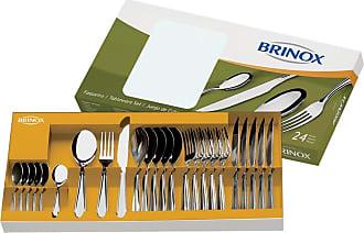 Brinox Faqueiro Lyon 24 Peças Metalizado - Lifestyle - Prateado - Único BR