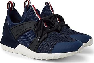 bb4675de878 Moncler Emilien Suede And Rubber-trimmed Mesh Sneakers - Navy