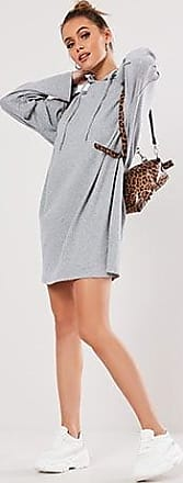Missguided Ribbed Hoodie Dress at Forever 21 Grey