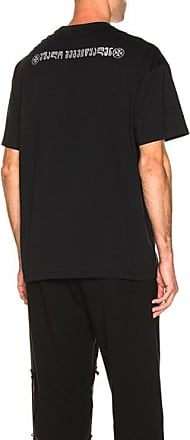 VETEMENTS Crystal God Bless You Tee in Black