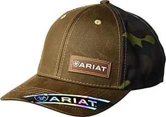 33ded8a65f374 Ariat Mens Oil Skin Camo Fabric Back Cap