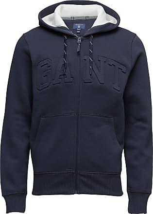 d1. hooded heavy rugger hoodie blå gant