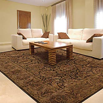 Nourison Jaipur (JA30) Brown Rectangle Area Rug, 5-Feet 6-Inches by 8-Feet 6-Inches (56 x 86)