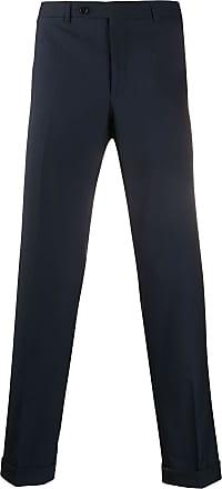 Canali Calça de alfaiataria slim - Azul