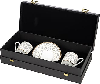 Roberto Cavalli Giraffe Espresso Cup & Saucer Luxury Gift Set - Set of 2
