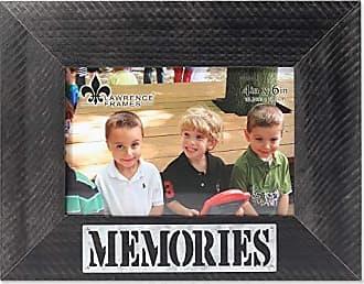Lawrence Frames 4x6 Harper Wood Galvanized Metal Piercing-Memories Picture Frame, Black