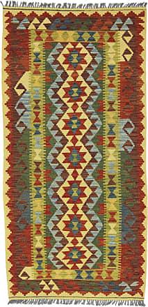 Nain Trading 215x99 Oriental Rug Kilim Afghan Runner Dark Grey/Rust (Wool, Afghanistan, Handwoven)