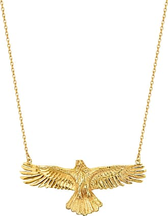 Zoe & Morgan Adler Halskette Gold - one size | gold plated sterling silver | gold - Gold/Gold
