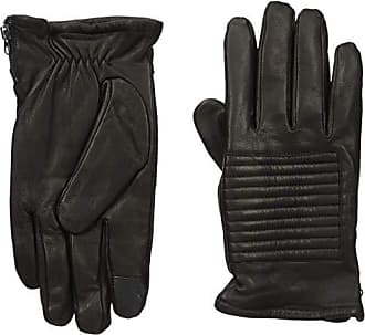 Kenneth Cole Reaction Mens 100% Leather Winter Gloves, black opaque, Extra Large
